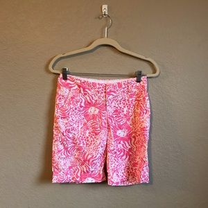 "Lilly Pulitzer 10"" Bermuda Chipper Shorts Size 00"